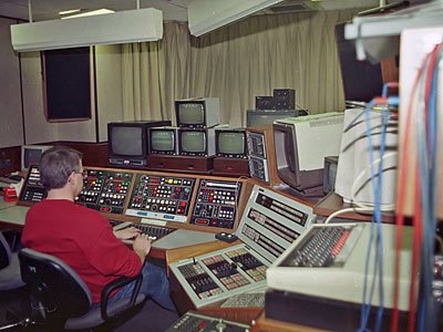 Pete Reason in Edit Suite G (or H). BBC micro nearest the camera.